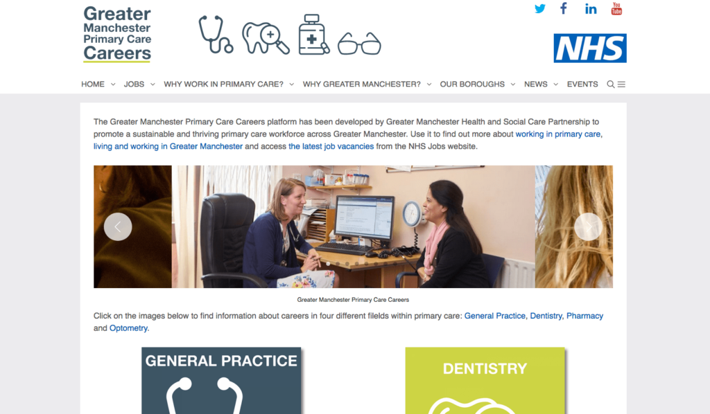Greater Manchester Primary Care Careers