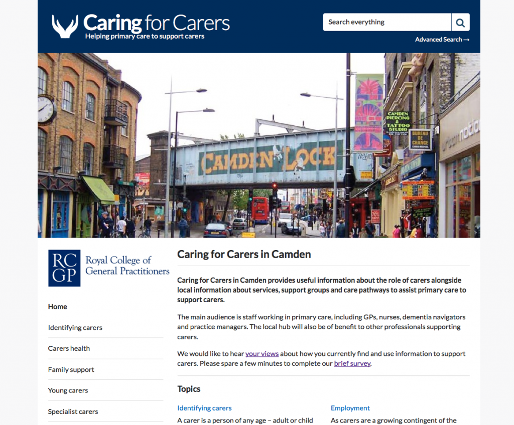 Caring for Carers Hub Camden