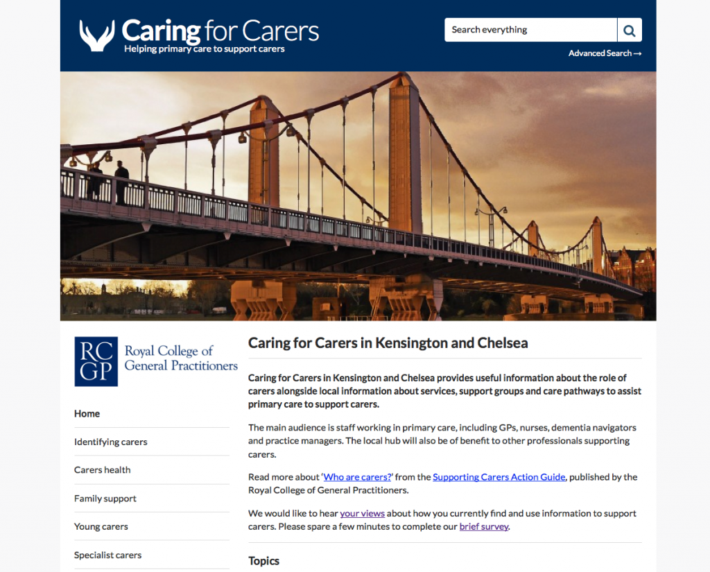 Caring for Carers Hub Kensington