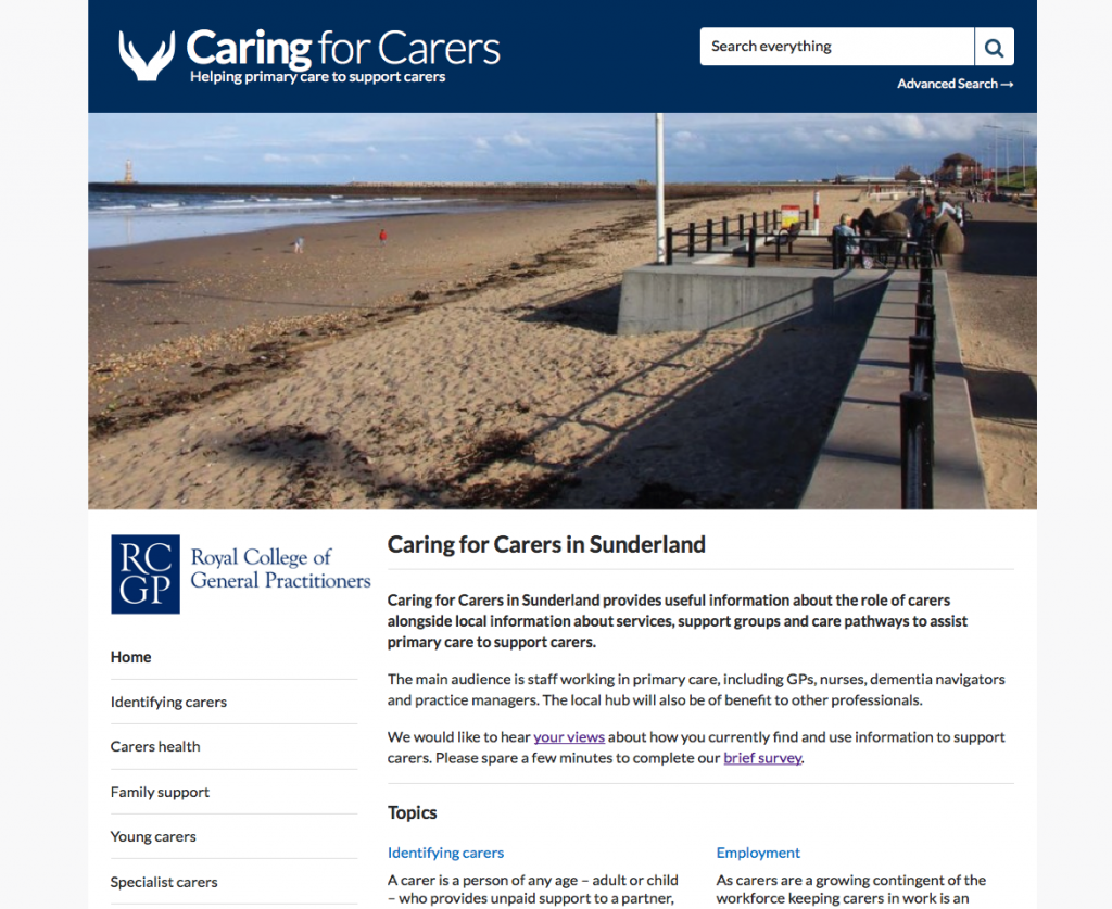 Caring for Carers Hub Sunderland