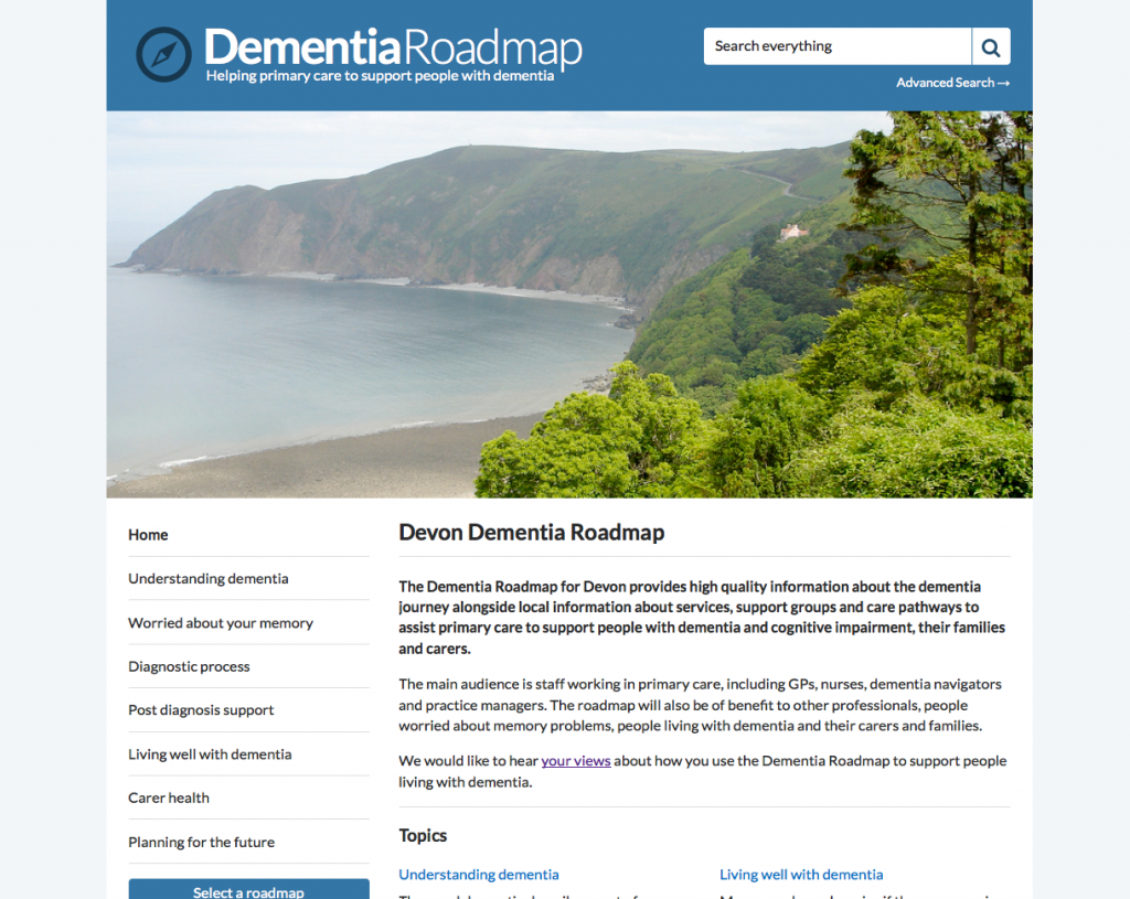 Devon Dementia Roadmap