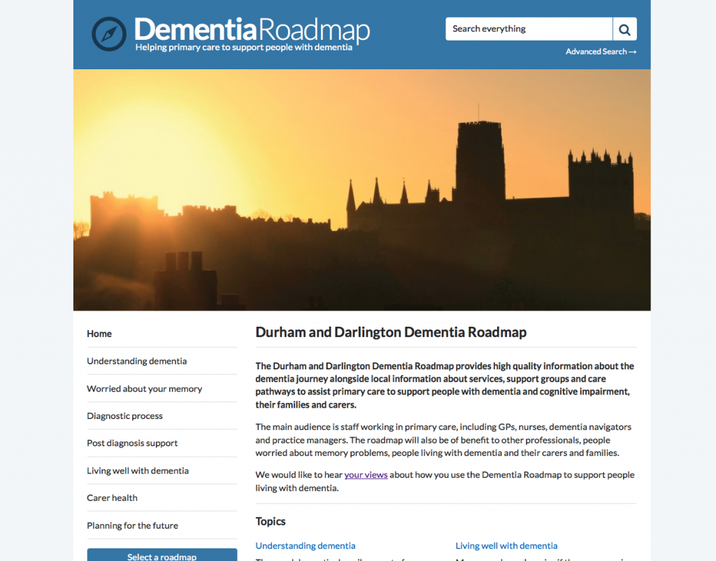 Durham and Darlington Dementia Roadmap