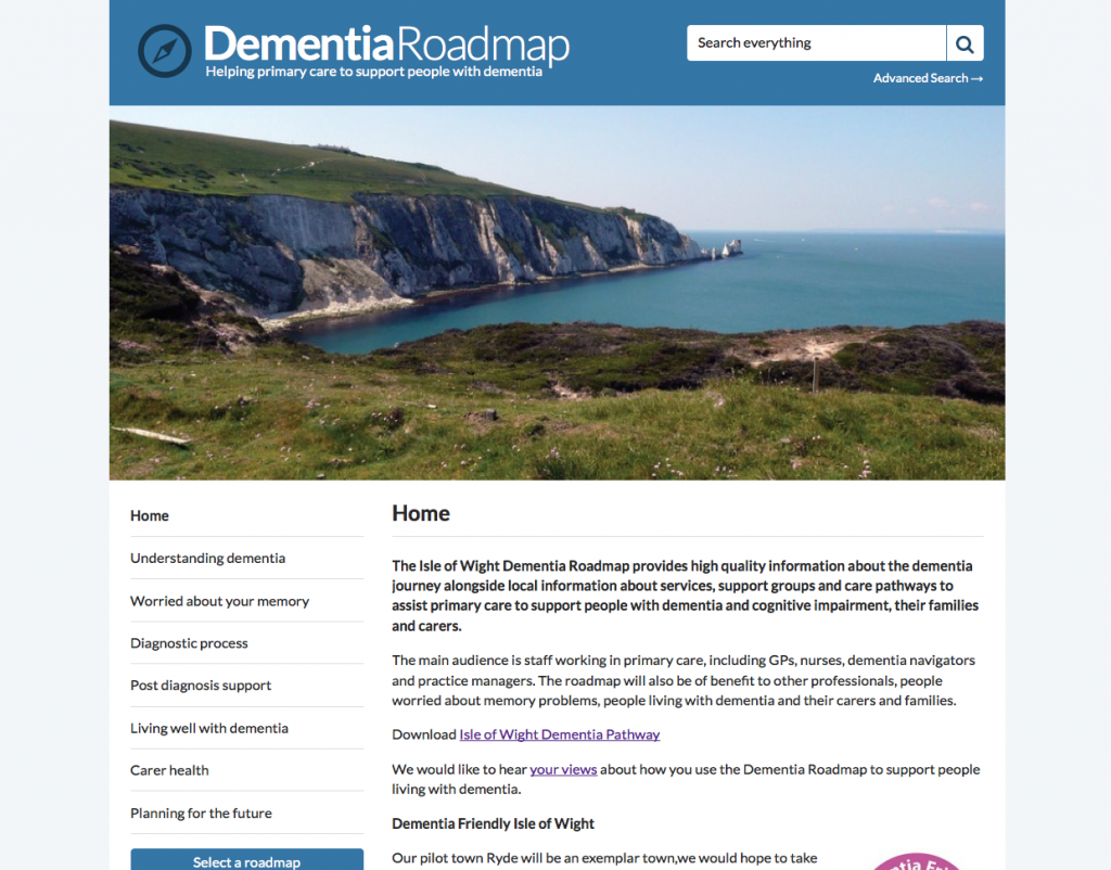 Isle of Wight Dementia Roadmap