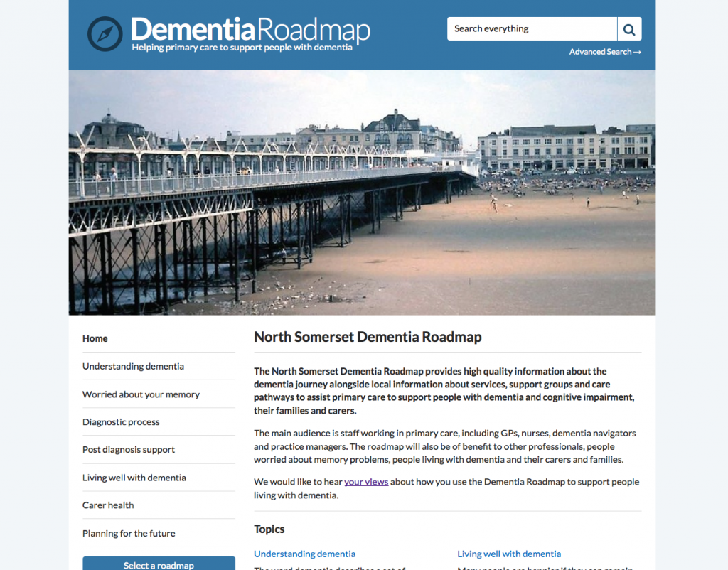 North Somerset Dementia Roadmap