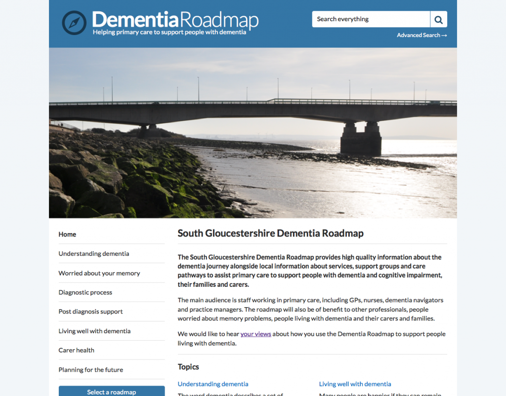 South Gloucestershire Dementia Roadmap