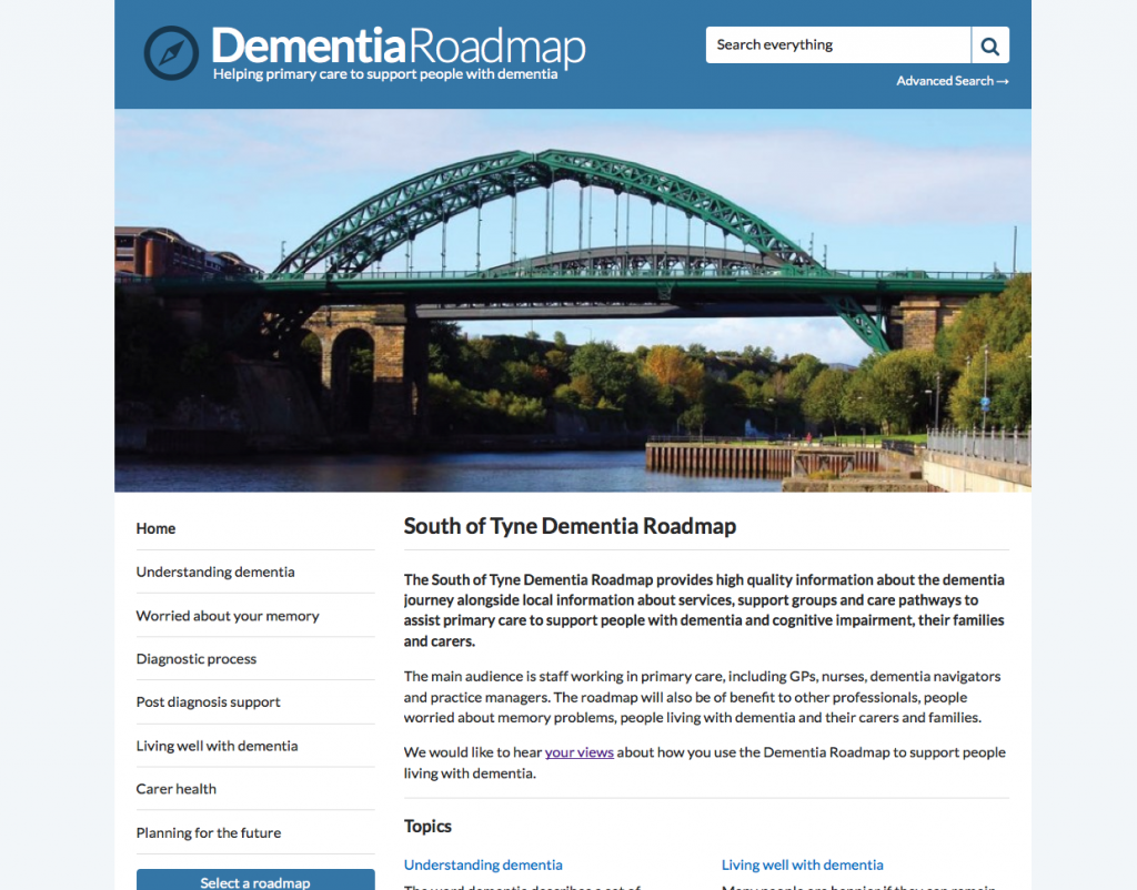 South of Tyne Dementia Roadmap